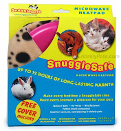 at entirelypets.com: snugglesafe microwaveable heating pad