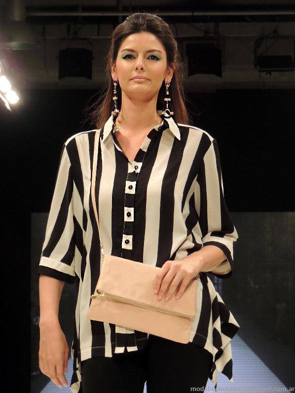 Moda 2014 Adriana Costantini verano 2014 camisas de mujer.