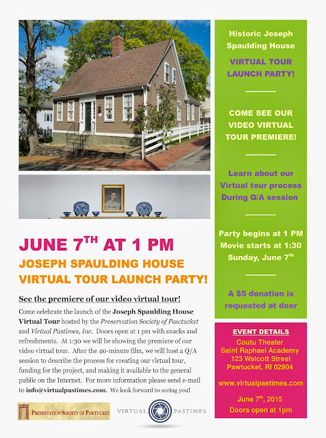 Spaulding House Virtual Tour Launch Party flyer