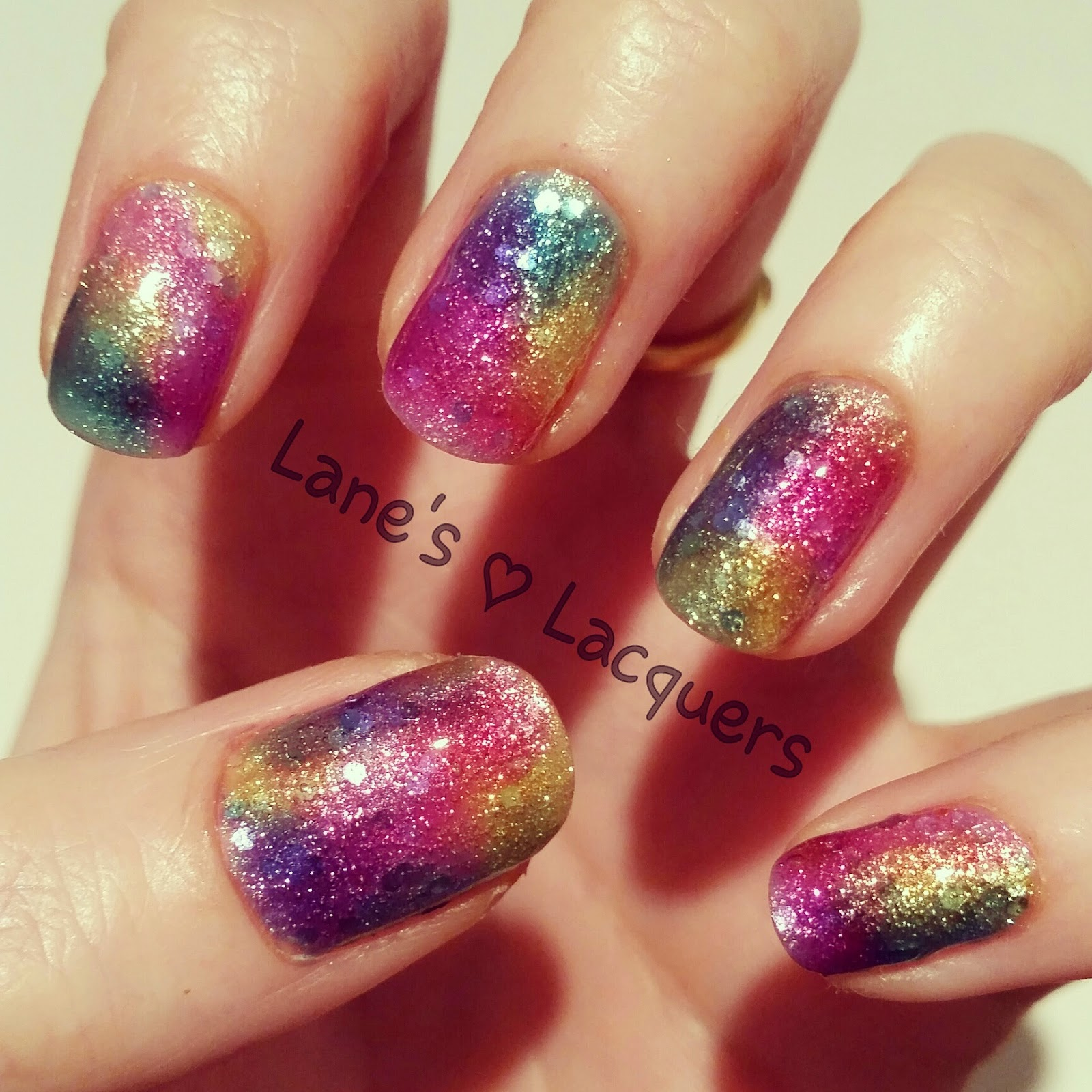 opi-sheer-tints-rainbow-blobbicure-over-glitter-base-nail-art