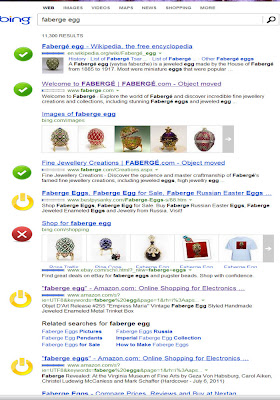 Bing search for faberge egg