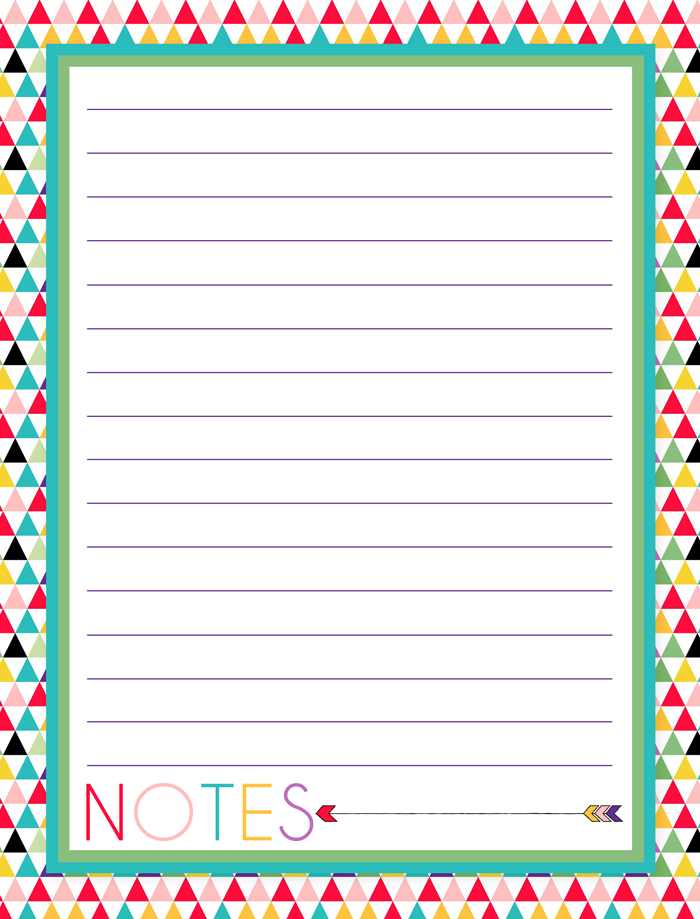 Zany image in free printable notes pages