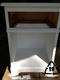 Nightstand into Doll Closet paint