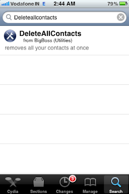 cydia search delete all contacts iphone