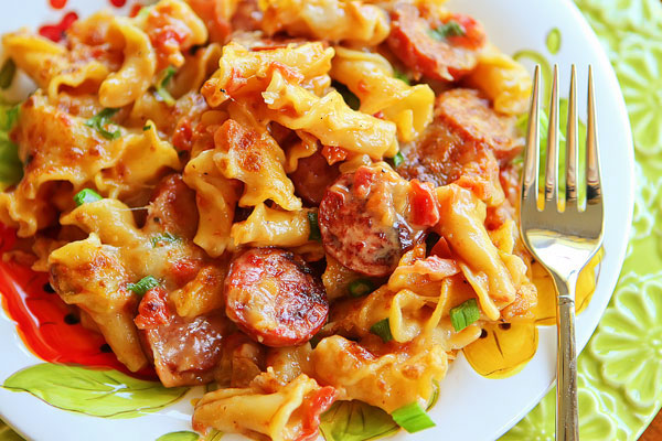 riches to rags by dori spicy sausage pasta