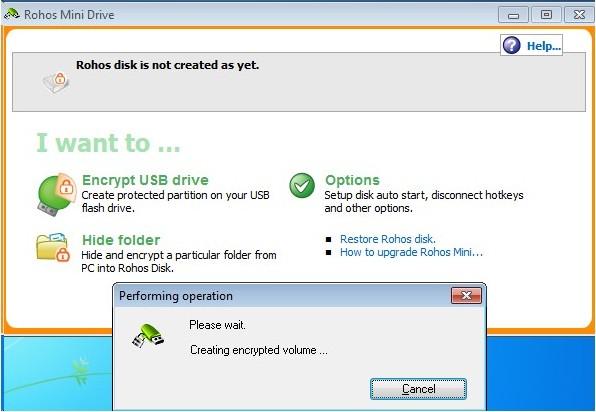 Flash Drive security password