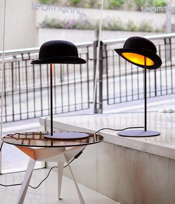 Lamparas sombrero de copa y bombín, un diseño muy British de Jake Phipps