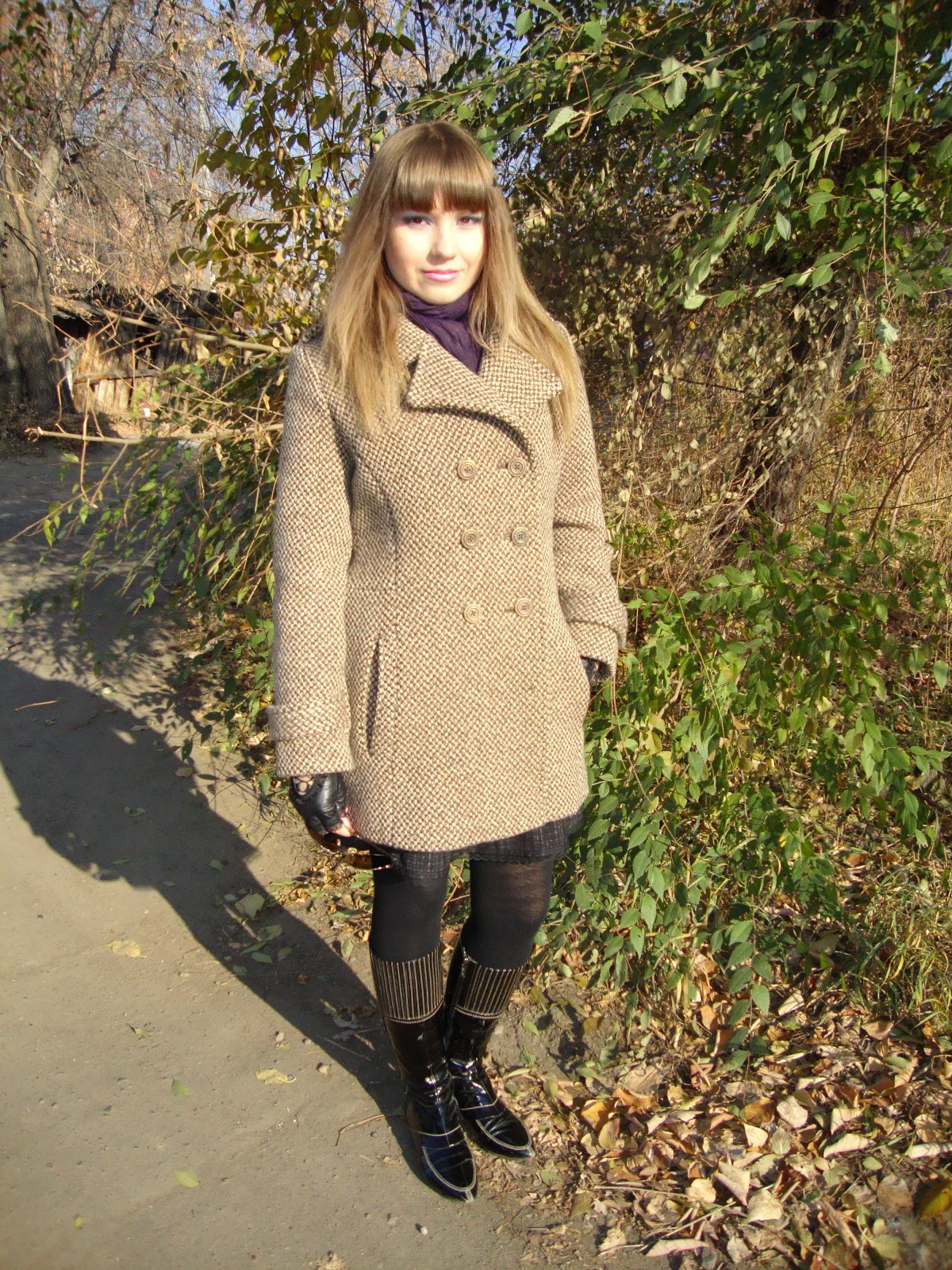 Coat, Handmade, Outfits, Sewing, Boots, Leggings, Skirts, Fingerless gloves, ASOS, Lisette