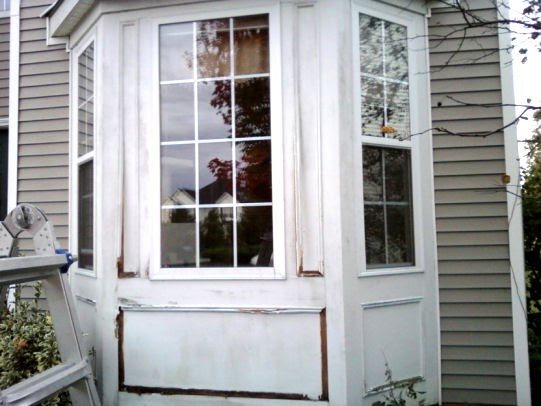 Nj home improvement blog bay window wood trim replacement for Bay window replacement ideas