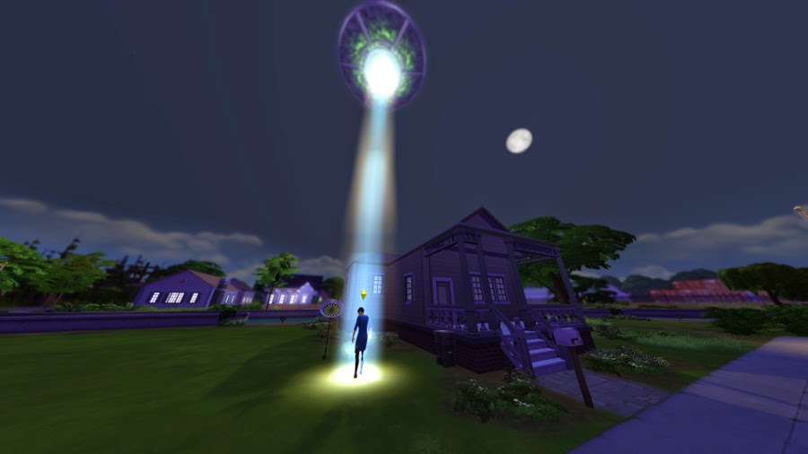 sims 4 how to get abducted by aliens