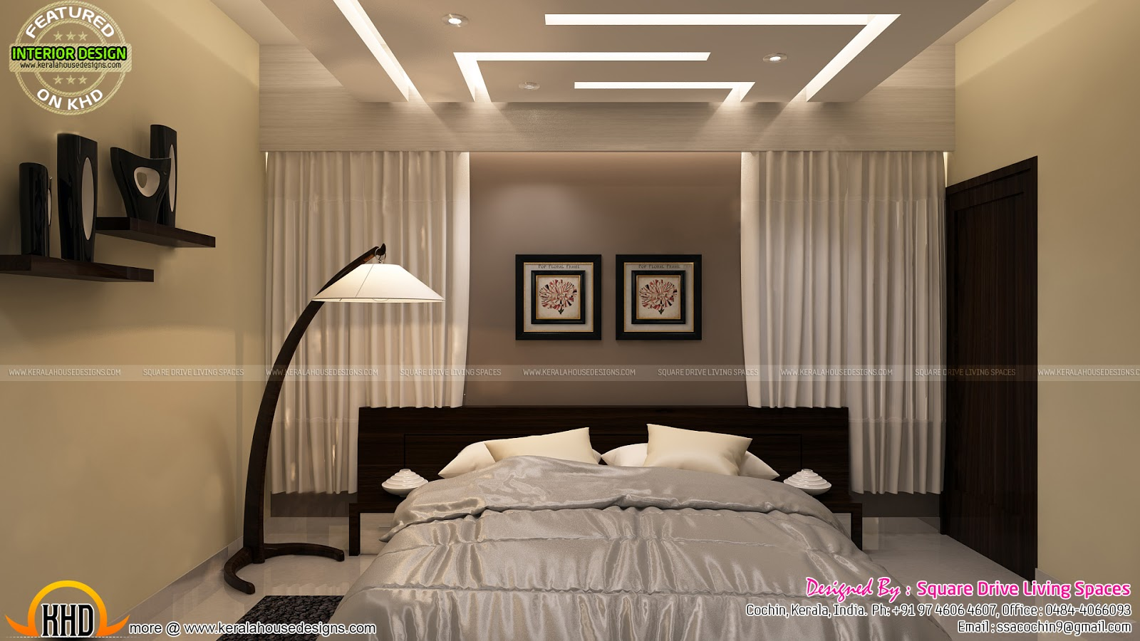 Kids room home theater and bedroom interior kerala home for Master bedroom designs kerala
