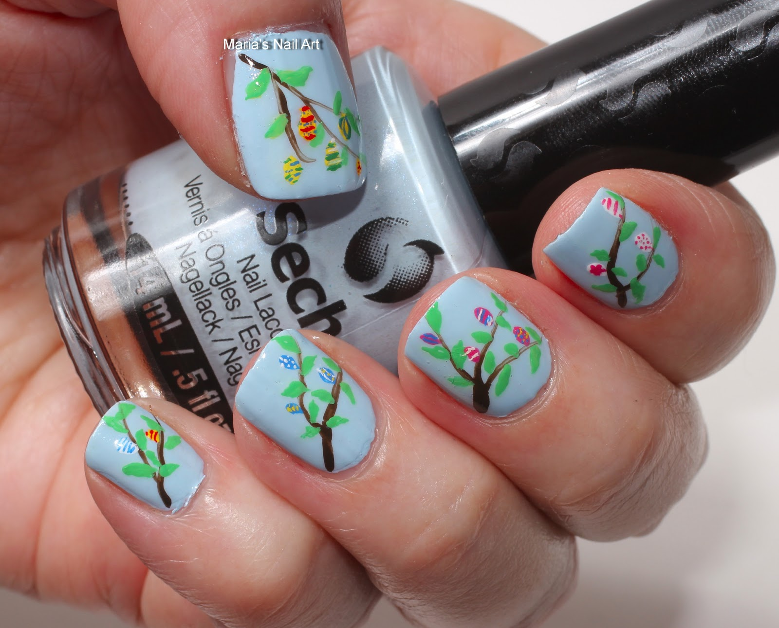 Marias Nail Art And Polish Blog Easter Eggs On Branches