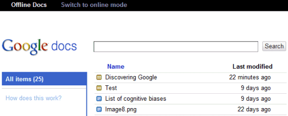 how to open google docs offline