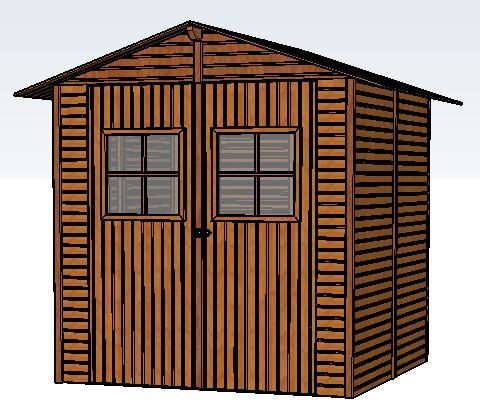 Lalus fecit dibujos 3d caseta de jard n for Caseta herramientas jardin