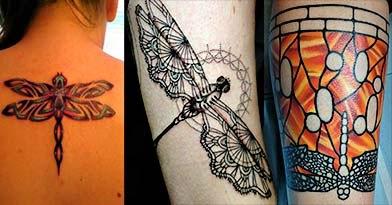 Fotos tatuagem libelula delicada