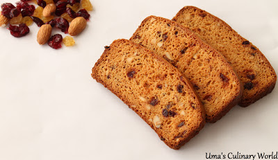 Fruit Cake Biscotti