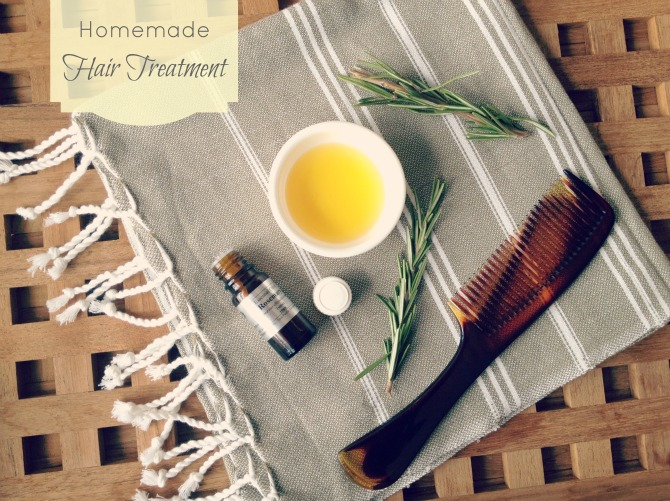 Homemade nourishing hair treatment