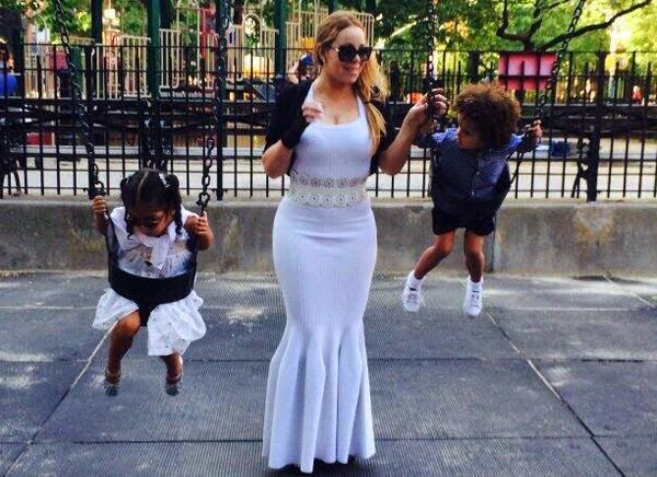 mariah carey, playground, ballgown, instagram,