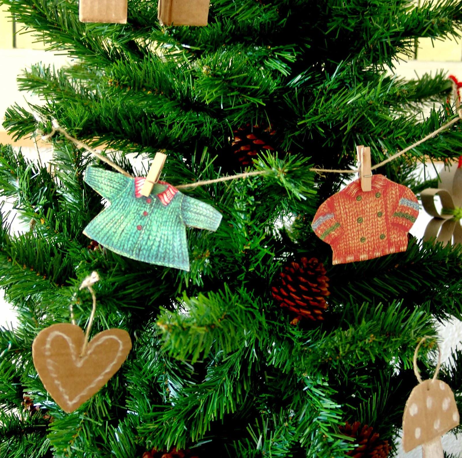 Lalibelula adornos de navidad hechos con carton - Adornos de navidad en carton ...