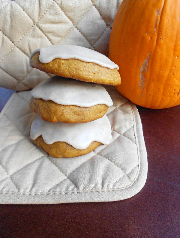 Iced Pumpkin Cookies - Confessions of a Confectionista