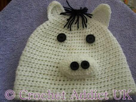 Horse Baby Beanie Hat Newborn 12 Months Free Crochet