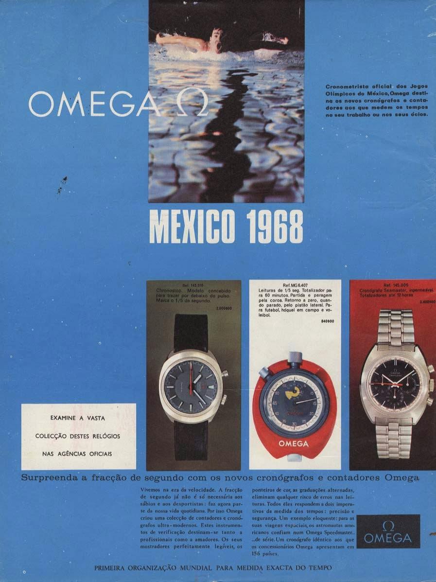 Publicidade Omega, Jogos Olímpicos do México, 1968 FO01