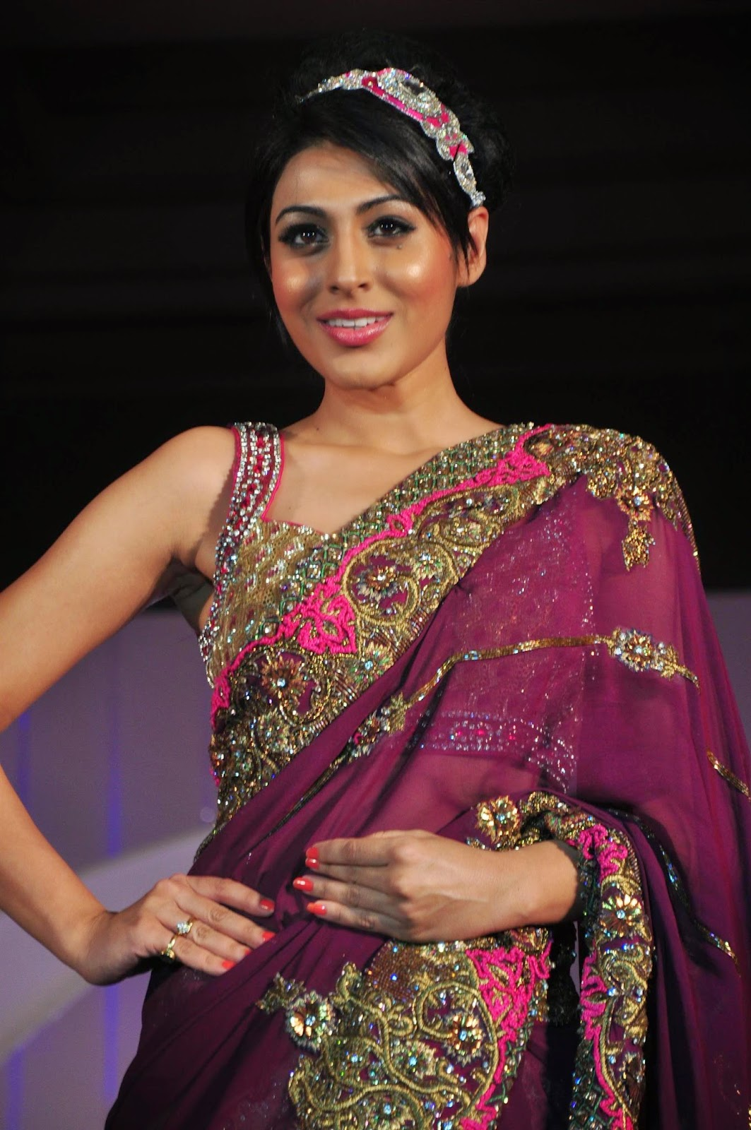 TV Celebs Ramp Walk at Designer Nisha Sagar Fashion Show Photo