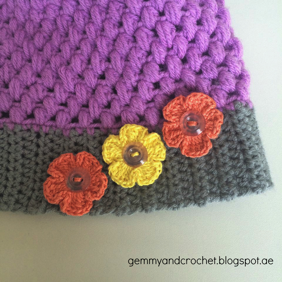Crochet Flower Puff Pattern : ALL ABOUT CROCHET: Free Pattern: Puff Stitch Baby Beanie