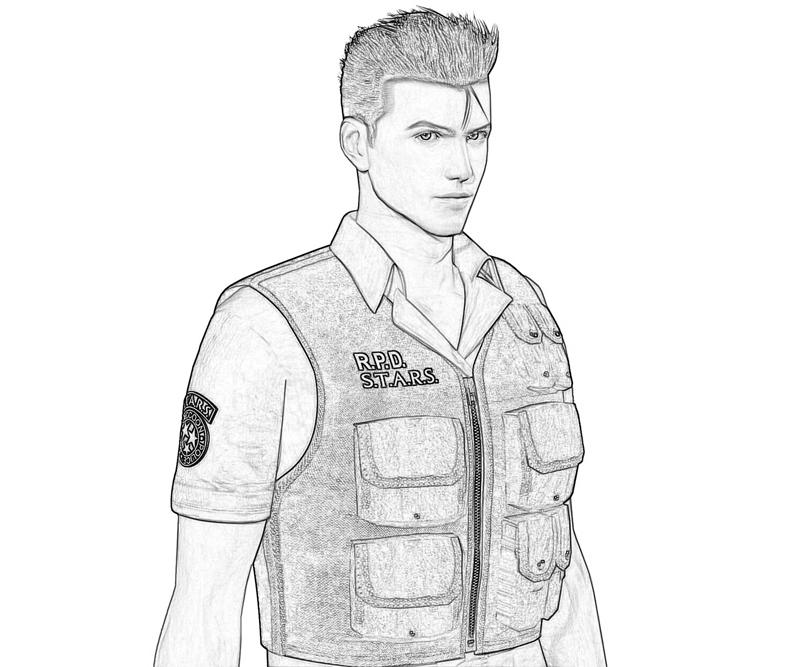resident-evil-chris-redfield-Portrait-coloring-pages