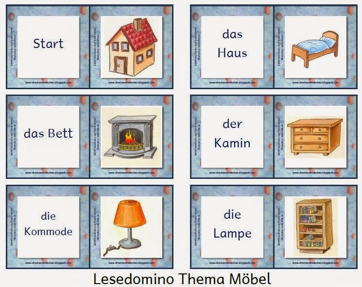 Drachenstübchen: Achtung: Lese-Domino Möbel vereinfachte ...