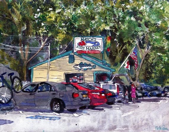 Art blog for the inspiration place wonderful wellfleet for Cape cod fish market