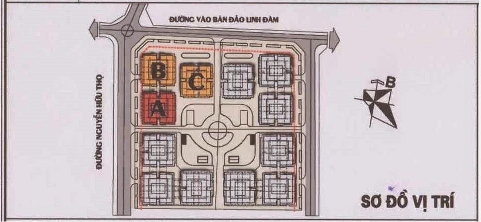 vị trí tòa HH1a chung cư linh đàm