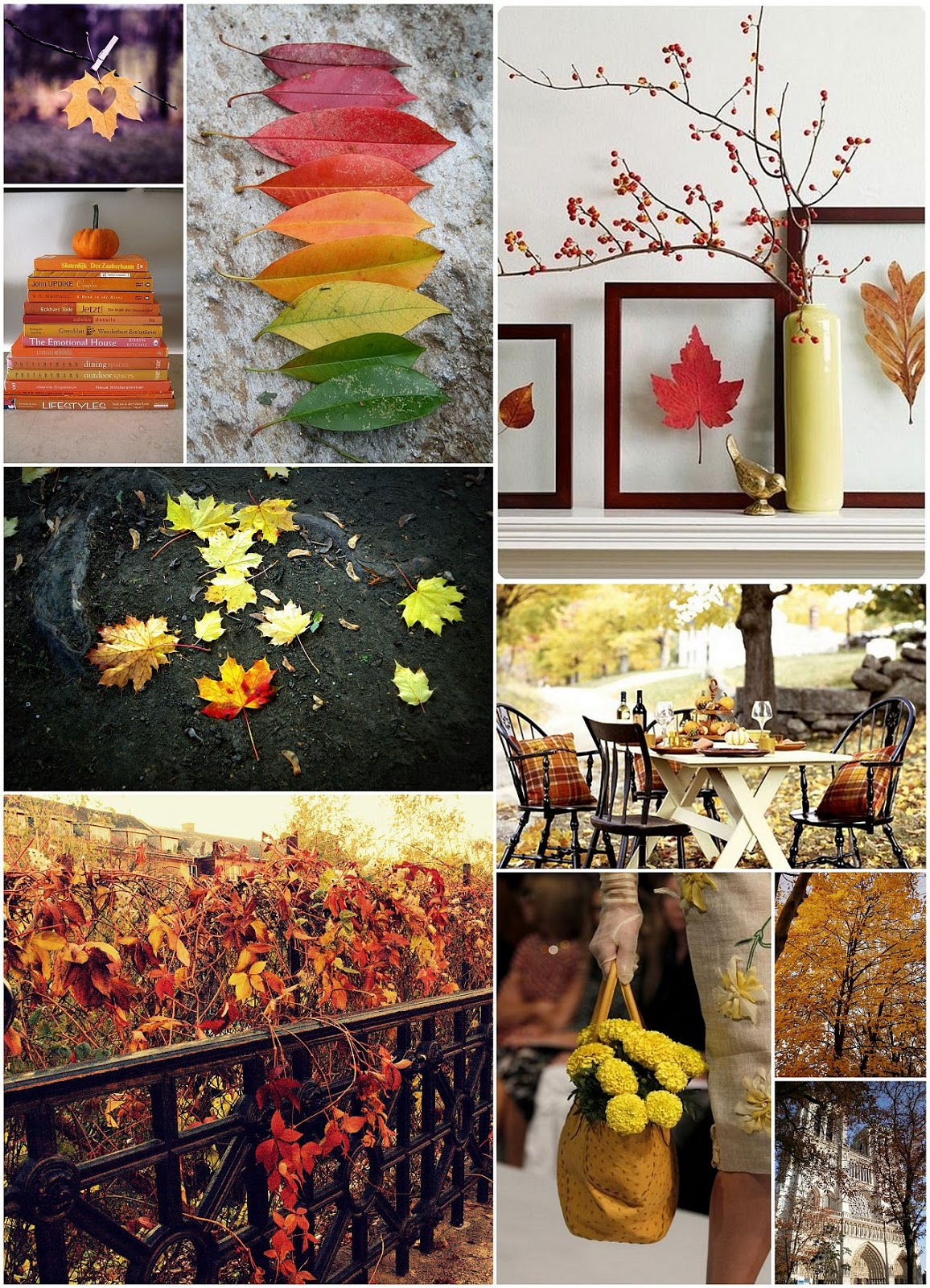 gorgeous autumn nature and decoration mood board inspritaion