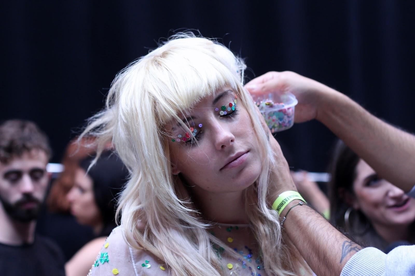 ashish ss16 backstage hair chloe norgaard