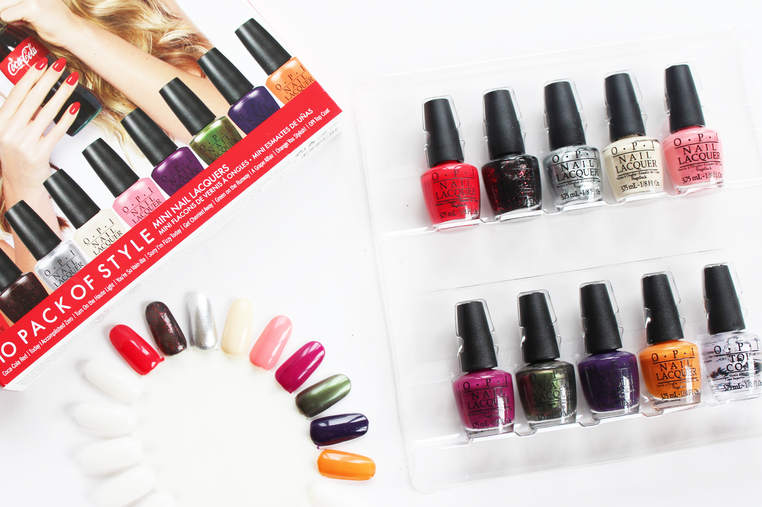 OPI | 10 Pack of Style - Coca Cola Mini Nail Polishes - Swatches + Review - CassandraMyee