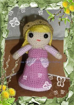 Amigurumi Princesa Bella Durmiente realizada a crochet
