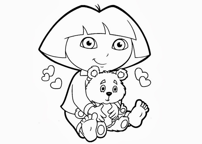 dora face coloring pages - photo#9