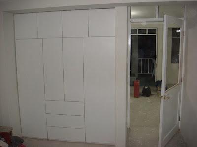 Muebles de melamina en puno ropero empotrado blanco for Planos de muebles de melamina roperos