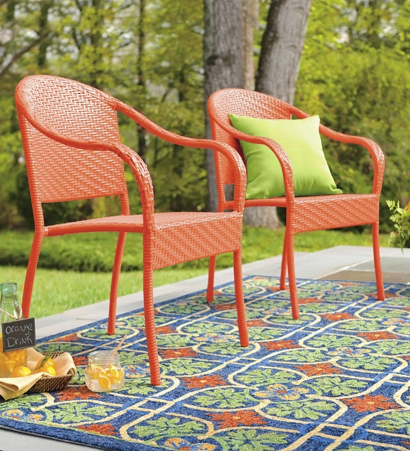 GAFunkyFarmhouse Wish List Wednesdays Colorful Outdoor Wicker Collection fr