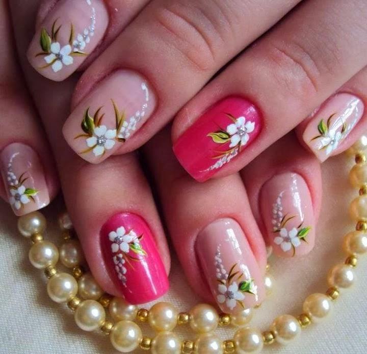 Uñas Decoradas con Flores, parte 3