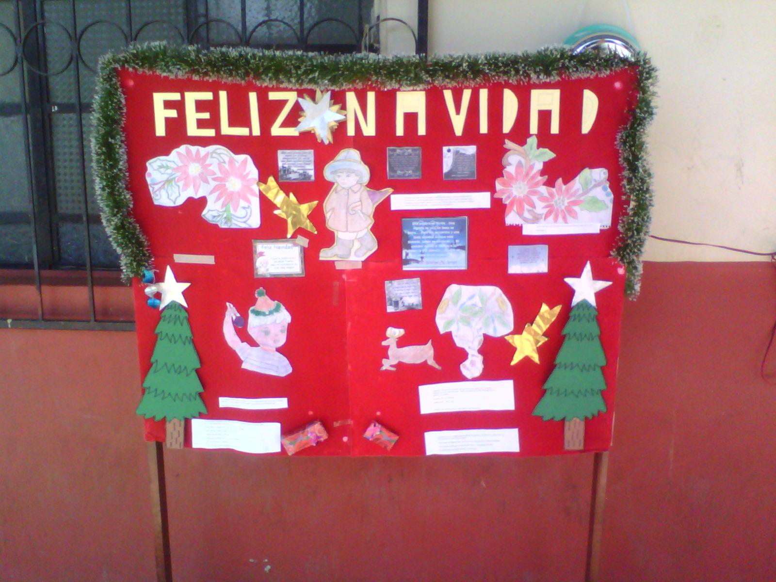Periodico mural navideno escuela secundaria diurna 82 for Mural navideno