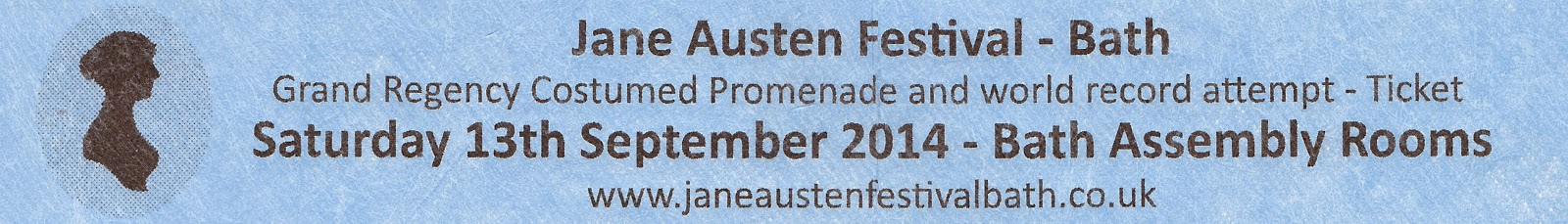 Ticket for the Jane Austen Festival Grand Regency Costumed Promenade