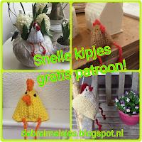 Bijna Pasen, gratis haakpatroon: snelle kipjes!