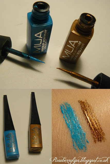 MUA Liquid Eyeliner in Shade 2 and Shade 3