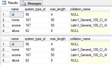 Visualizando Dados da estrutura da tabela.