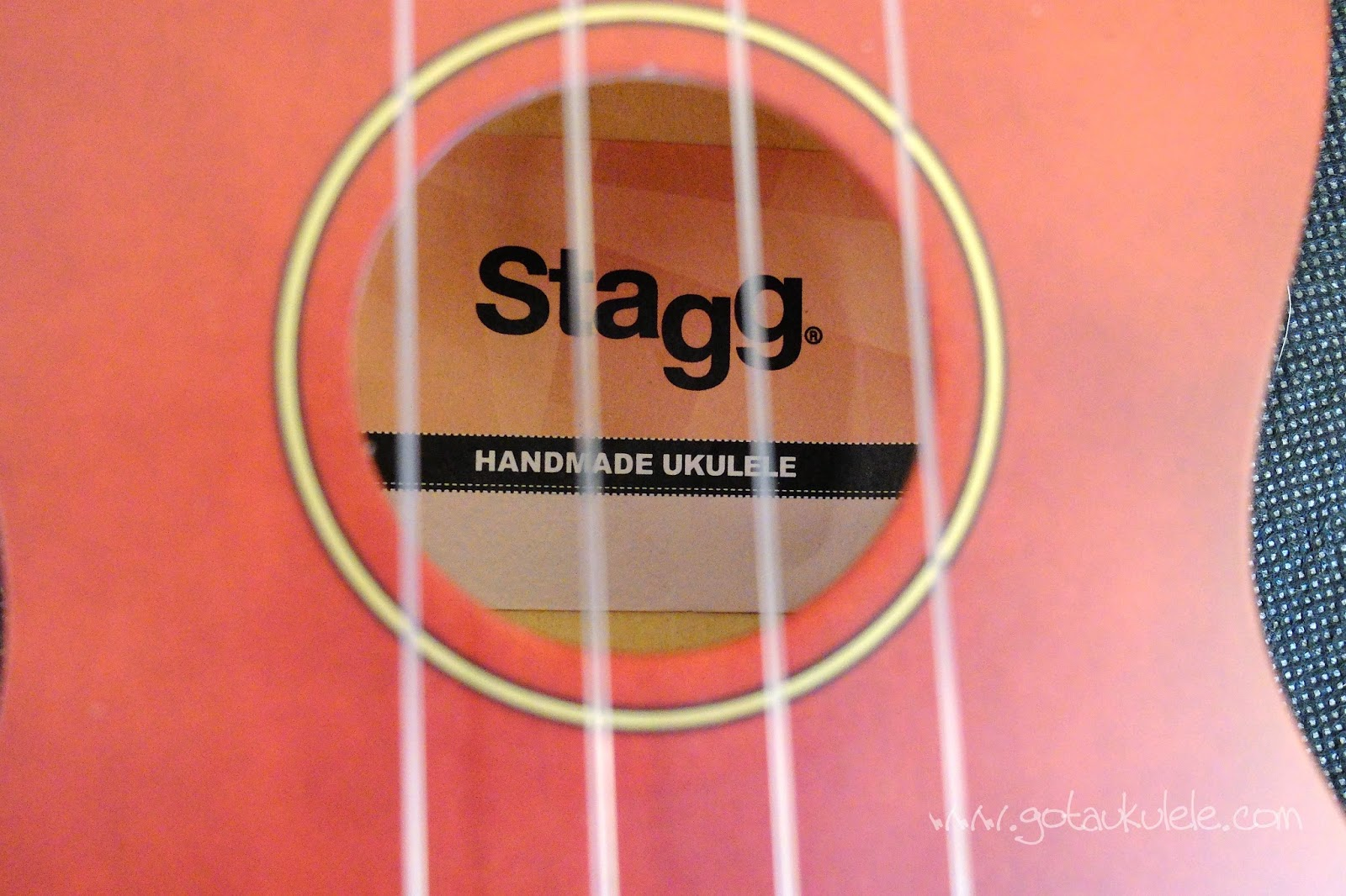Stagg US10 Soprano Ukulele label