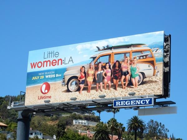 Little Women LA season 3 Woodie billboard
