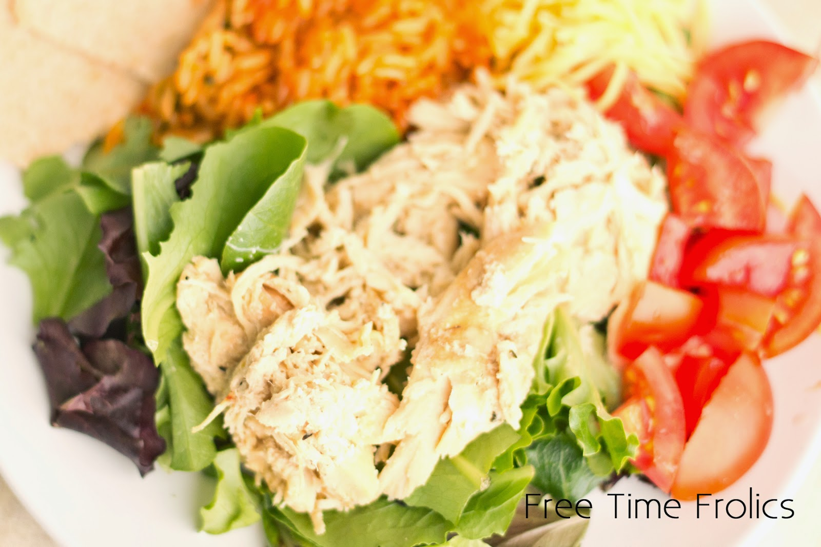 Crockpot Rotisserie Chicken Recipe www.freetimefrolics.com salad