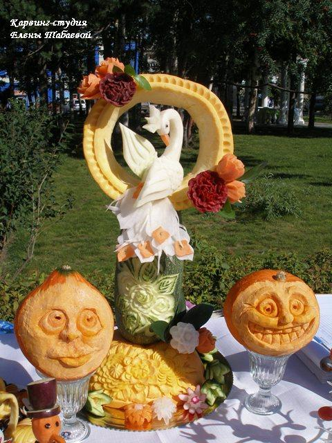 карвинг жар-птица сентябрь осенние композиции из овощей