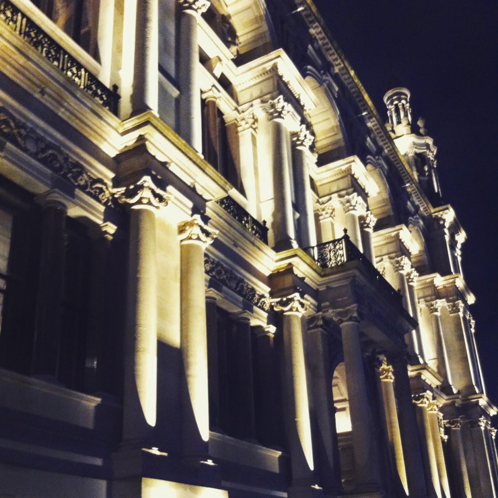 London Building at night
